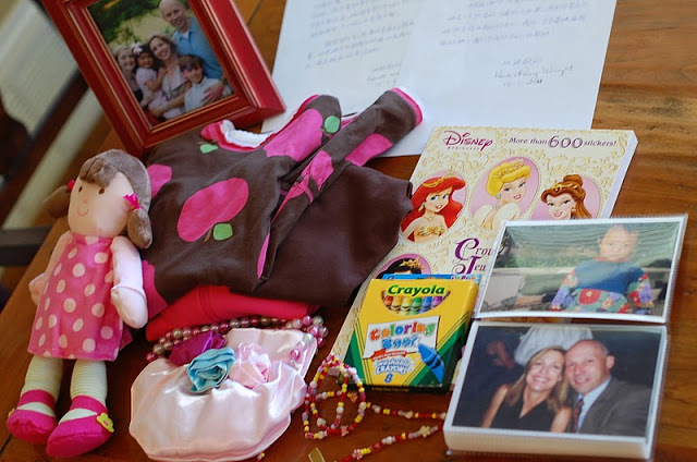 Janie's first care package!